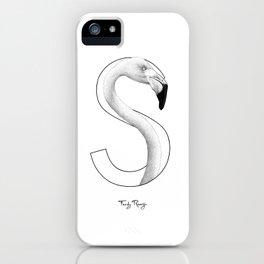 S - flamingo iPhone Case