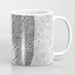 Natural Outlines - Leaf Black & Concrete #768 Coffee Mug