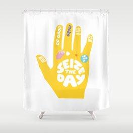 Seize the day – Sunshine hand Shower Curtain