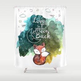 Love Fox Shower Curtain