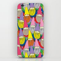 gnome iPhone & iPod Skins featuring Mister Gnome by Lydia Meiying