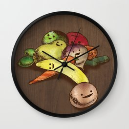 Fruit With Faces Wall Clock