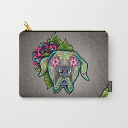Great Dane with Floppy Ears - Day of the Dead Sugar Skull Dog Carry-All Pouch
