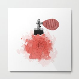 Red Rose Perfume Metal Print
