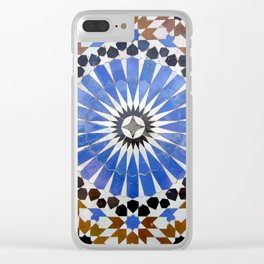 Mosaics of colors Clear iPhone Case