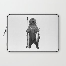Harpoon Fishing Bear Laptop Sleeve