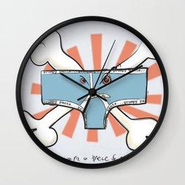 grumpy pants! Wall Clock