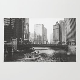 Dusk falls on Chicago Rug