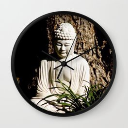 Buddah Zen Meditative Earthy Art Print Wall Clock