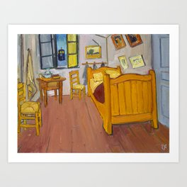 Vincent's Room with TARDIS Art Print