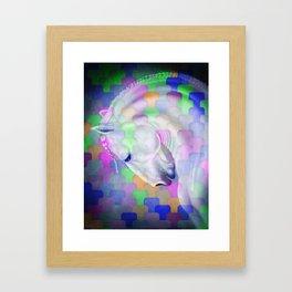 Patchwork Style Horse Rainbow Framed Art Print