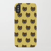 wes anderson iPhone & iPod Cases featuring Wes Racoon by mleko