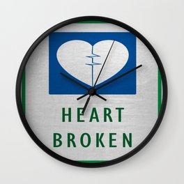 Heart Broken Wall Clock