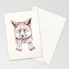 Fox and scarf Stationery Cards