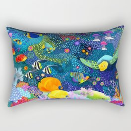 Ocean Tropical Fish Life Rectangular Pillow