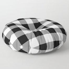 Gingham (Black/White) Floor Pillow
