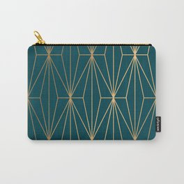 Hidden Sapphire Benjamin Moore Geometric Gold Pattern Carry-All Pouch