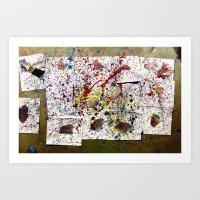 splatter Art Prints featuring SPLATTER  by The Family Art Project
