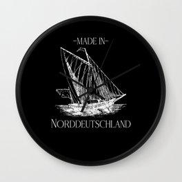 North Sea Gift Coastal T-shirt North Germany  Wall Clock