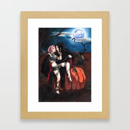 SasuSaku Halloween Framed Art Print