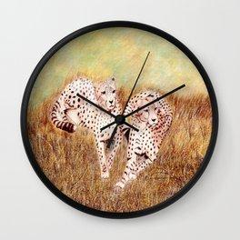 Resting Cheetahs Wall Clock