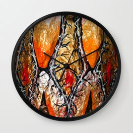 Thorns pattern Wall Clock