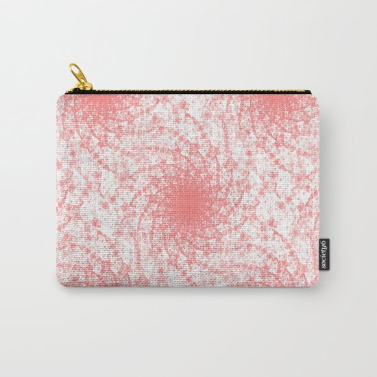 Pink And White Rotation Carry-All Pouch