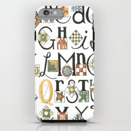 The ABC's of Quilting iPhone Case