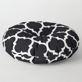 MOROCCAN BLACK AND WHITE PATTERN #2 Floor Pillow