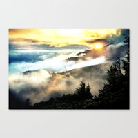 mountains Canvas Prints featuring Sunrise mountains by 2sweet4words Designs