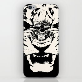 White Tiger Vector iPhone Skin