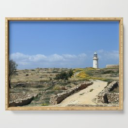 Lighthouse in Paphos Serving Tray