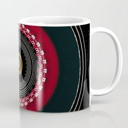 Modern Black White and Red Mandala Coffee Mug