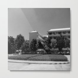 Black dormitory for workers to relax Metal Print