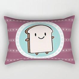 Happy Bread Slice Rectangular Pillow