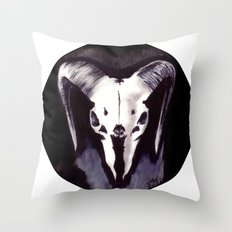 Cephalomancy Throw Pillow