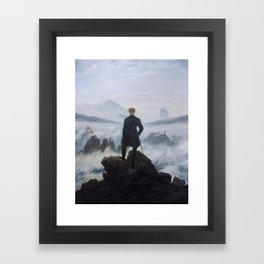 Wanderer Above the Sea of Fog Framed Art Print