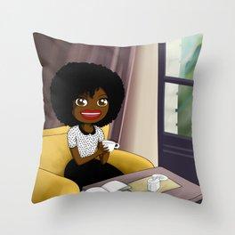 Tasty coffee Throw Pillow