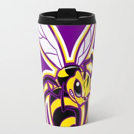 bee mascot yellow purple Travel Mug