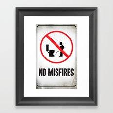 Misfire Framed Art Print