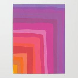 Vivid Vibrant Geometric Rainbow Poster