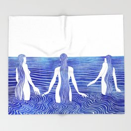 Sirens Call Throw Blanket