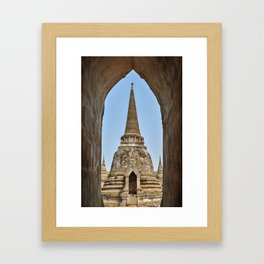 Chedis at Wat Phra Si Sanphet Framed Art Print