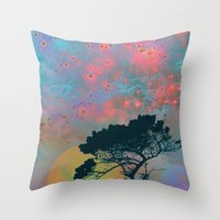 tchmo Throw Pillows featuring Dream Forest by Starstuff