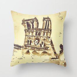 Cathedrale Notre-Dame Throw Pillow