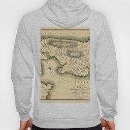 Map Of Boston 1818 Hoody