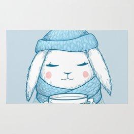 Winter Rabbit Rug