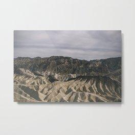 Death Valley: Zabriskie Point  Metal Print