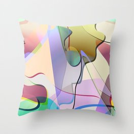 abstract-1 Throw Pillow