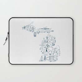 Michigan Up North Collage Laptop Sleeve